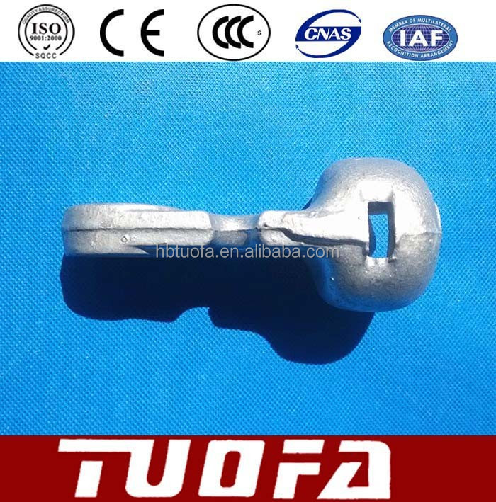Hot-dip Galvanize Power Line Hardware / High Quality Socket Tongue/Clevis