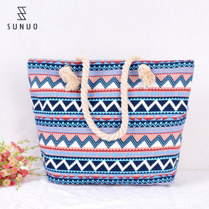 Promotional Fashion Style Tablet Tote Canvas Beach Bag for Travel