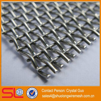 Hot square screening stainless steel crimped wire mesh
