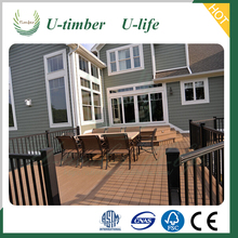 100% recycycled engineered wood composite thermowood decking