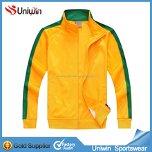 Newest Yellow winter coat long sleeve zipper soccer jacket