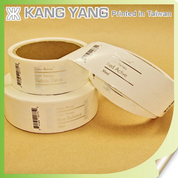 Clear Transparent Private Cosmetic Packaging Labels for Shampoo Bottle Labels