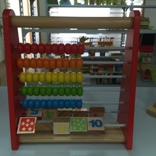 wooden colorful bead rack toys educational for children