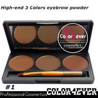 Professional eye makeup palettes 3color Makeup factory Eyebrow Palette private label cosmetics