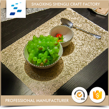 Popular fashionable Recycled shinning golden luxurious table placemats