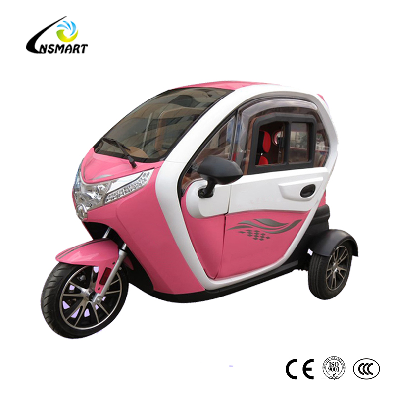 60V 1000W disc brake electric driving 3 wheel bike taxi for sale