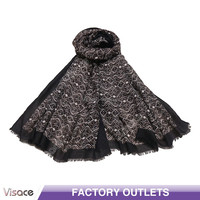 Boutique Lady Fashion Stole/Shawl- Black Color -2016 New