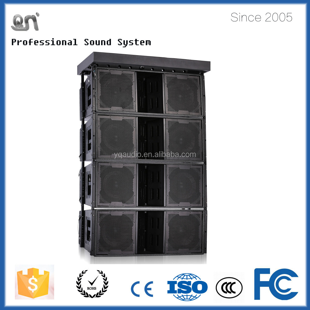 factory price passive 1200w 12inch*2 top pro audio line array for sound system equipment