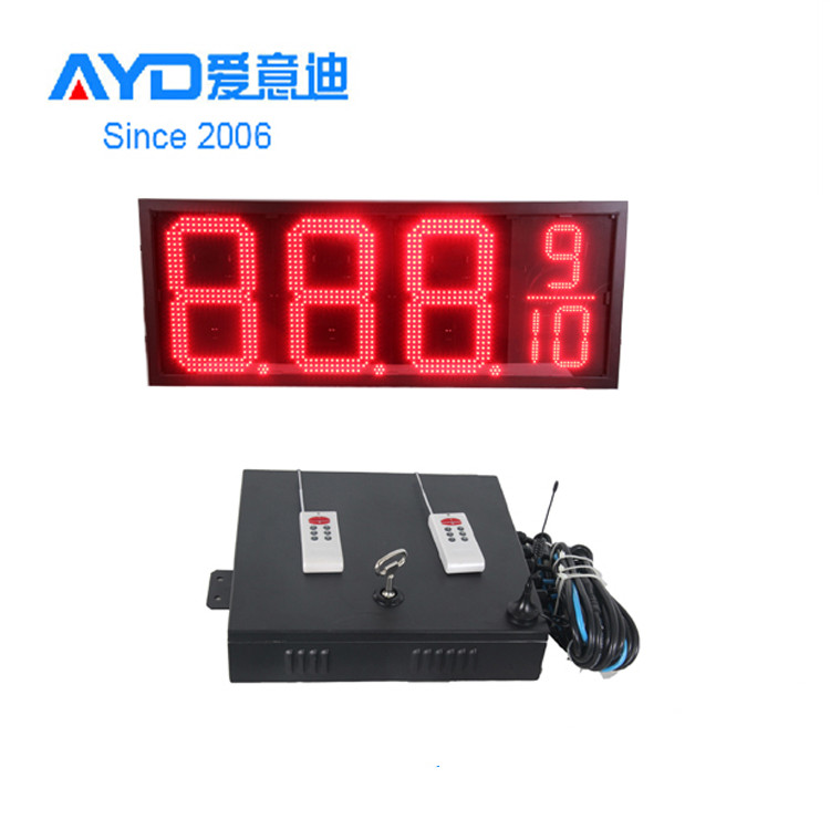 Ali wholesale 12inch led gas price sign display red outdoor