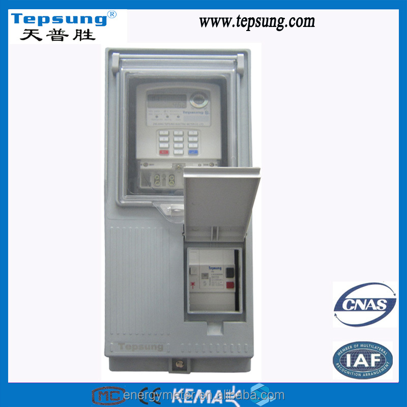 Single Phase Electric Electronic Junction Box Electrical Electricity Energy Meter Box