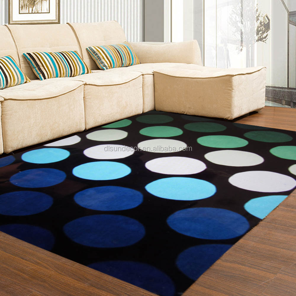 bedroom round polyester handtufted rug mat