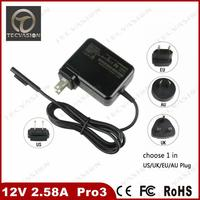 newest models 12v 2.58a laptop adapter for microsoft surface tablet adapter au plug 12v 2.58a tablet charger