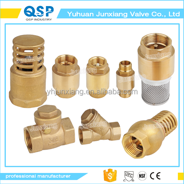"China made 3/4"" 1"" ms58 brass foot valve with plastic core"