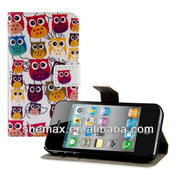 Owl Family Leather Cover Case For Samsung c3222