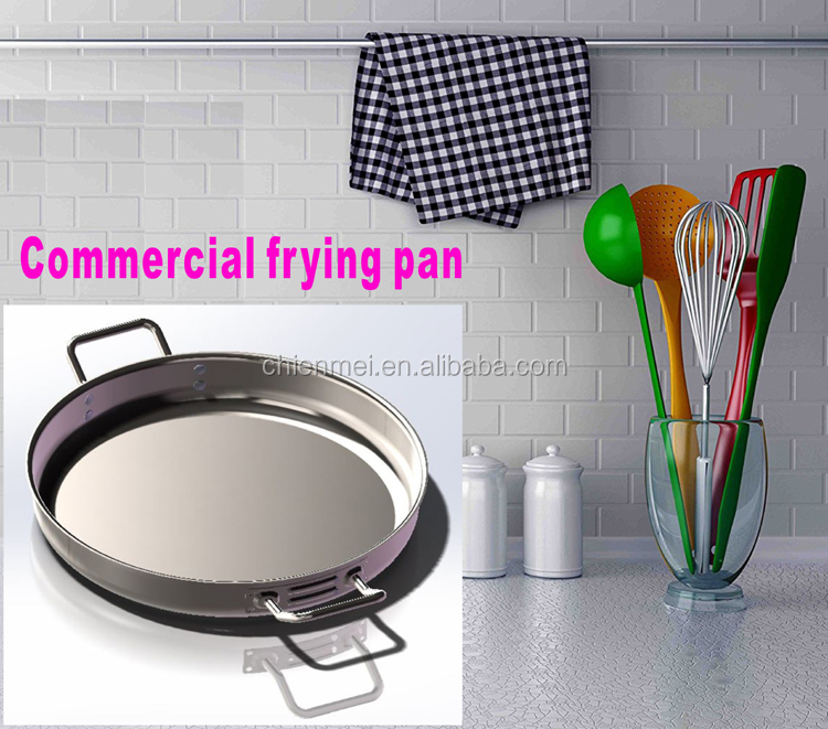 "Stainless Steel update International 15"" Induction Ready Natural Finish Stainless Steel Fry Pan"