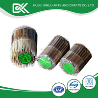 New arrival round disposable bamboo oem wood fruit stick