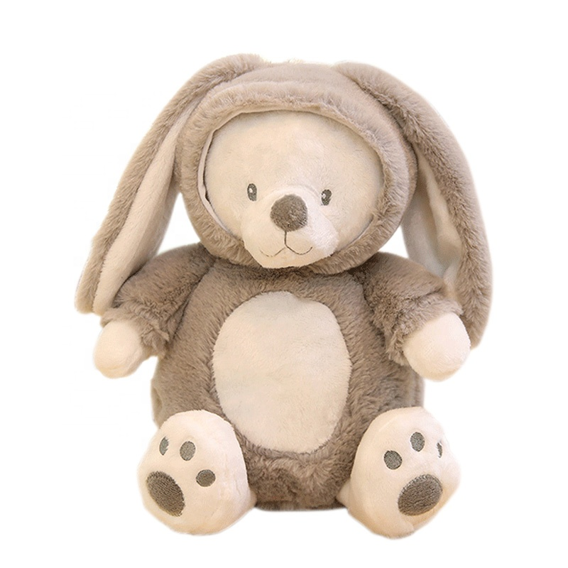 Factory Custom <strong>Plush</strong> and Stuffed Teddy Bear With Rabbit Clothes Toy for Promotional Gift