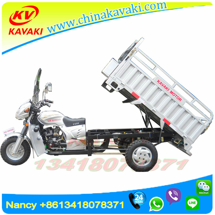 Export Turkmenistan silver with step 200cc carring 1.5T 3 wheel motorcycle car / agricultural tricar