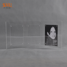 2018 Clear Acrylic Magnetic Curving Clear 5x7'' Photo Frame with Magnet