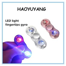 China Factory Provide Copper and Aluminum Alloy LED Lamp Fidget Spinner Waterproof Fingertips Gyro