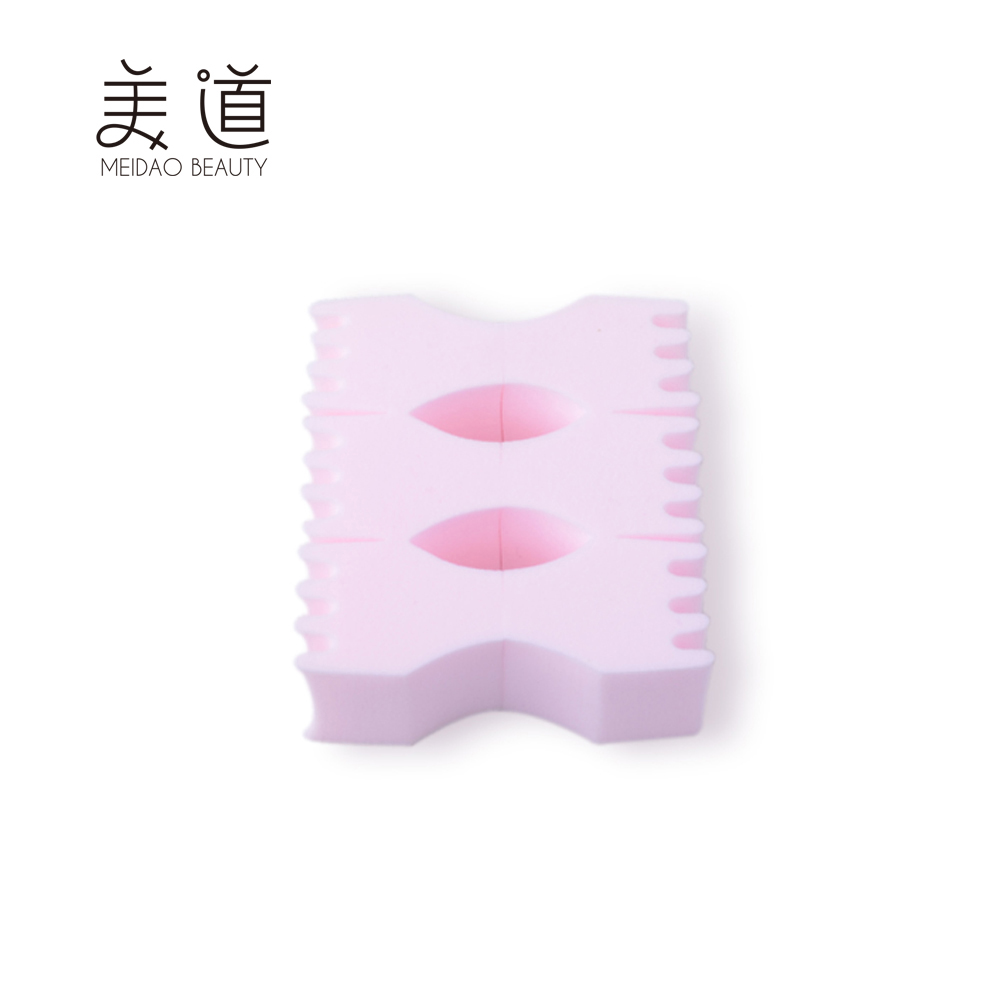 Wholesale Cheap Foundation Soft PU Pink Square Makeup Powder Puff
