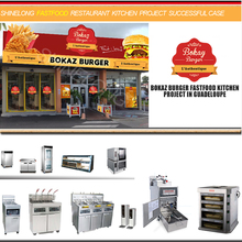 Global Popular Fast Food Chains Roasted Chicken and Burger Making Kitchen Equipment