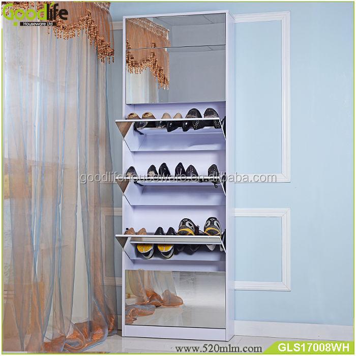 GLS17008mirror shoe cabinet-7