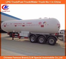 Hot sale 56000 Liters propane butane Gas tanker semi trailer lpg tanker trailer in Dubai