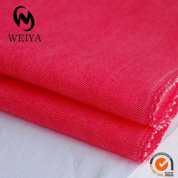 Polyester twill fabric with spandex