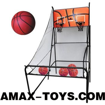 sbt-914332 basketball shooting sport game with scoring and timing device (double players)
