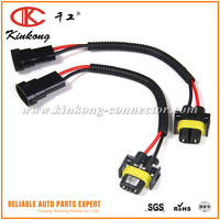 Custom automotive Lamp Connector Extension Adapter Wiring Harness Socket Wire for Car Headlight electrical Wiring Harness
