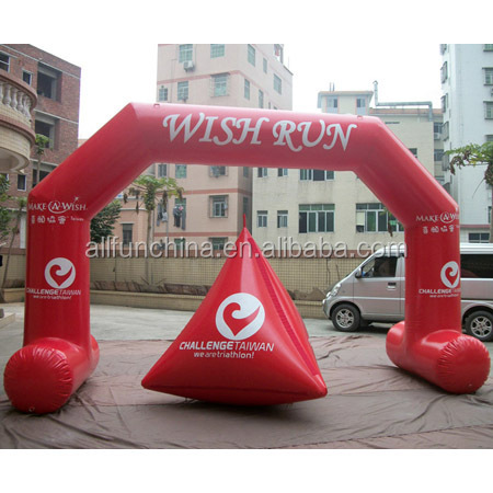 2014 new style red color inflatable sealed air arch and water buoy
