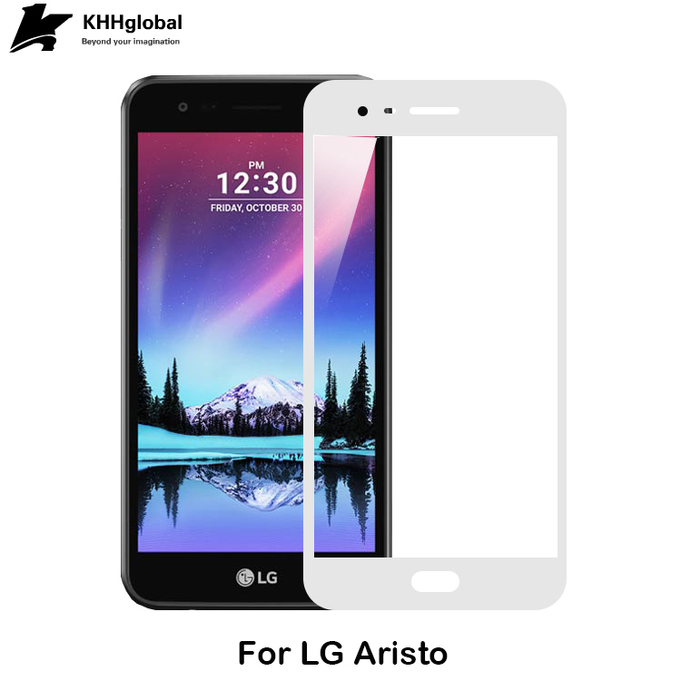 For US MetroPCS hot model 9H Silk Printed Tempered Glass Screen Protector for LG Aristo