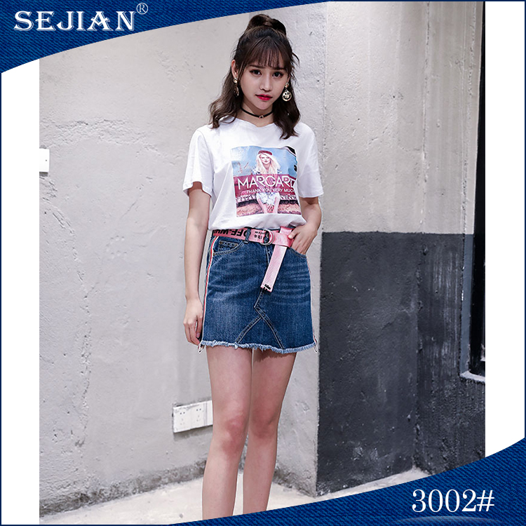 Thin Design Sexy Girl Mini Short Denim Skirt For Sale
