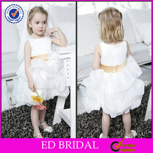 Satin Organza Ball Gown Infant Baby Little Queen Flower Girl Dress