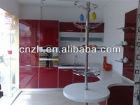 European style modern acrylic kitchen cabinet, UV lacquer acrylic cabinet kitchen