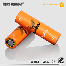 New arrival product high quality Basen 18650 45A 2700mah 3.7v high amp vapor battery