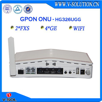 FTTH Gpon 4ge wifi onu optical fiber converter with 2fxs
