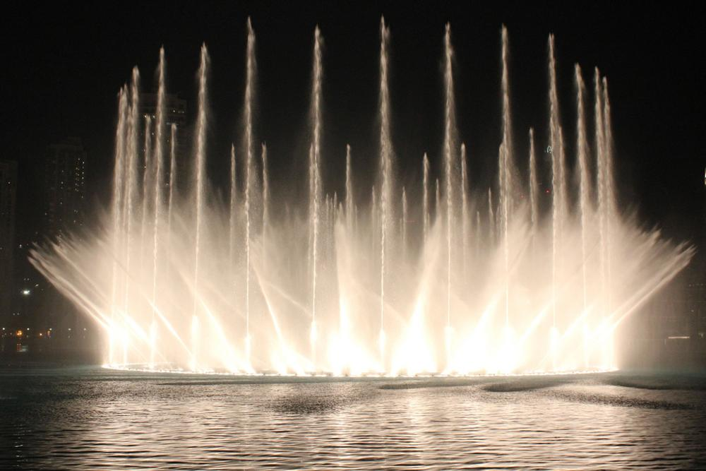 Three Layers Water Features Dancing Floating Fountain For Lake