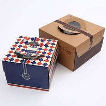 Wholesale best quality recycled brown kraft paper food box for cake
