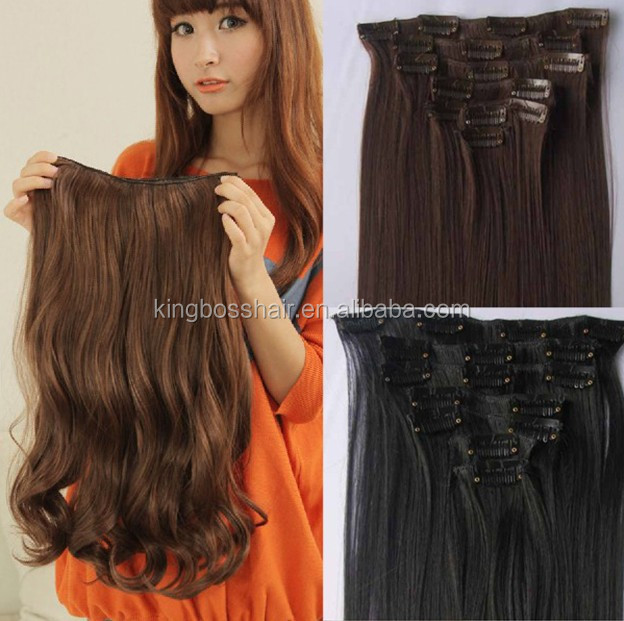 100g full head 100% virgin remy brazilian human hair clip in human hair extensions