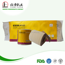 100% bamboo pulp raw material roll toilet paper