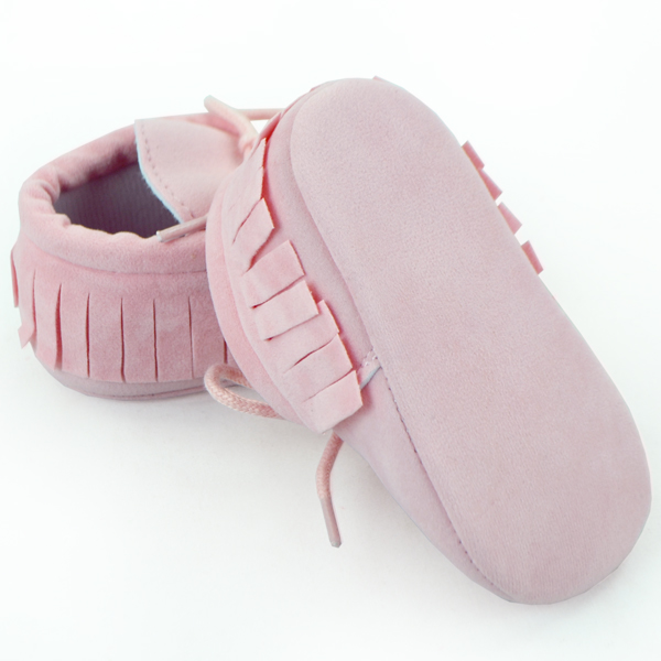 Pink Color Baby Shoes With Fringe Tassels Soft Sole Baby Leather Shoes Newborn Baby Shoes Manufacturer In Chian Yiwu