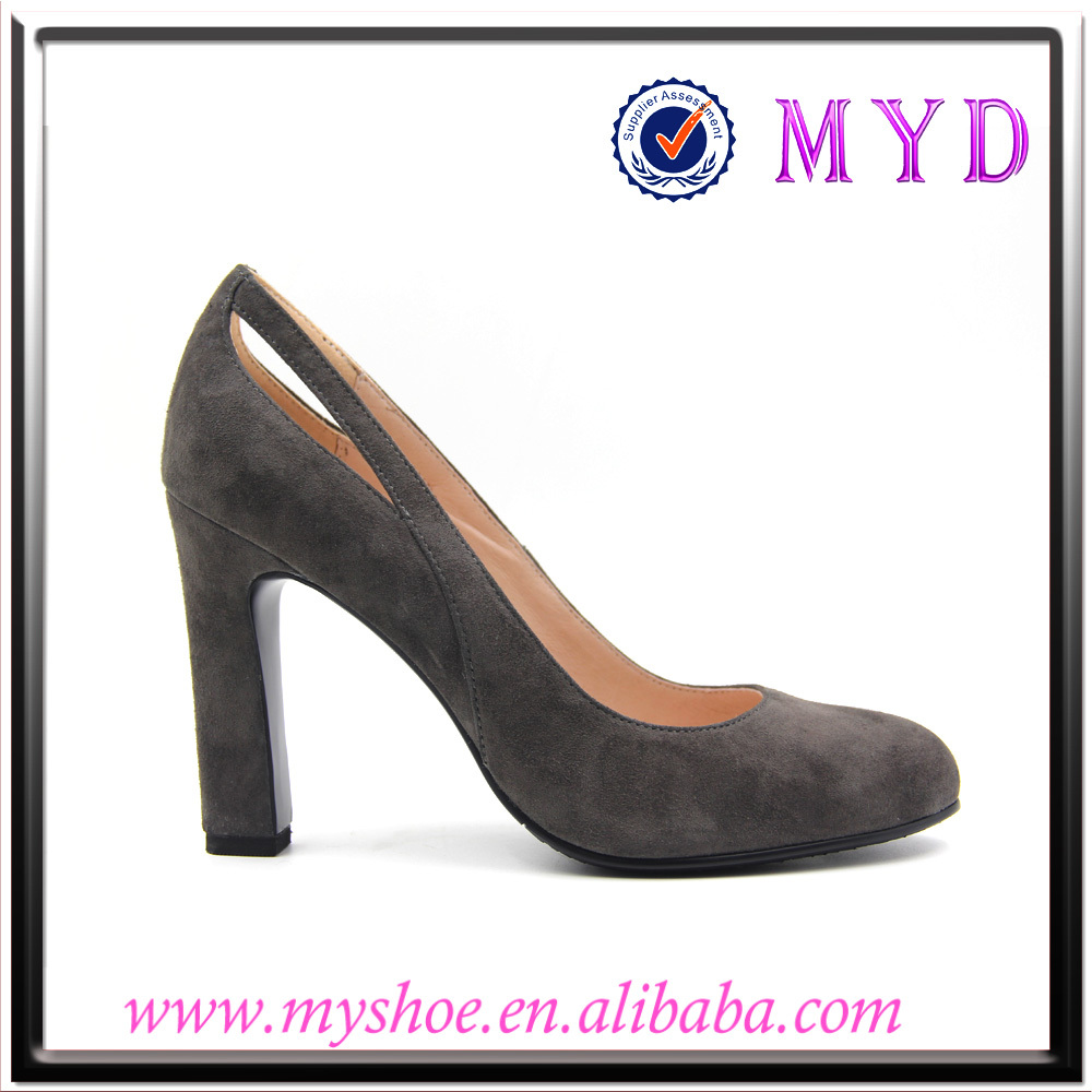 Genuine leather pump high heel leather pump fashion pump shoes