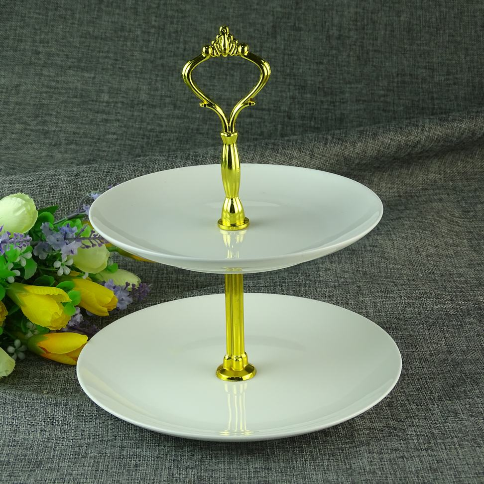 fine bone china 2 tier 3 tier cake stand for wedding