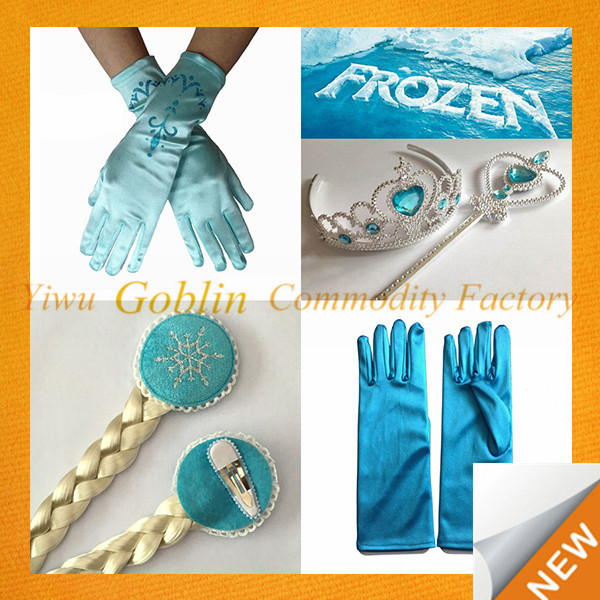 GBEY-173 Elsa Anna Princess Cosplay Set Magic Wand Christmas Girl Gift 1set=Magic Wand + Rhinestone Hair Crown + Glove+Hair