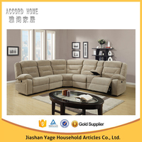 Living Room Funiture Fabric U Shaped Corner Sofa With Recliner 9067