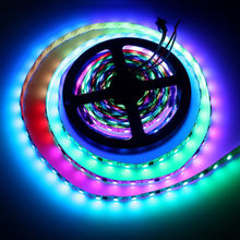 WS2812B Individually Addressable IC LED Strip Light 5050 RGB 16.4ft 30 LED Flexible Waterproof