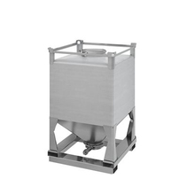 1000L Stainless steel Conical Bottom Custom-made IBC tanks Container for powder