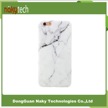 Wholesale mobile phone cases high quality white black marble IMD phone cover for iphone 7 and iphone 7 plus